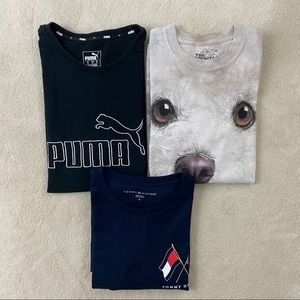 Lot Of 3 Mens T-Shirts of Assorted Brands Sz Med